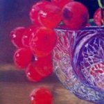 Grapes in crystal bowl