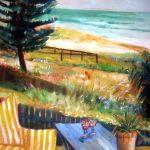 Mermaid Garden Original Watercolor Painting