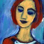 Girl with Bird An Expressive Art Study