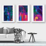 Lunar Garden Triptych – Art Print