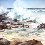 A blue Wave – Maroubra Beach – Mahon pool – Storm