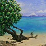 A tree on a calm beach