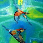 Fluid motion – Rainbow bee-eaters