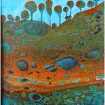 Beneath the Trees – Fluid Acrylic Painting