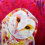 Owl Selfie – original acrylic painting