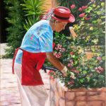 The Lady Tending the Flowers (Provence area, Sth France)