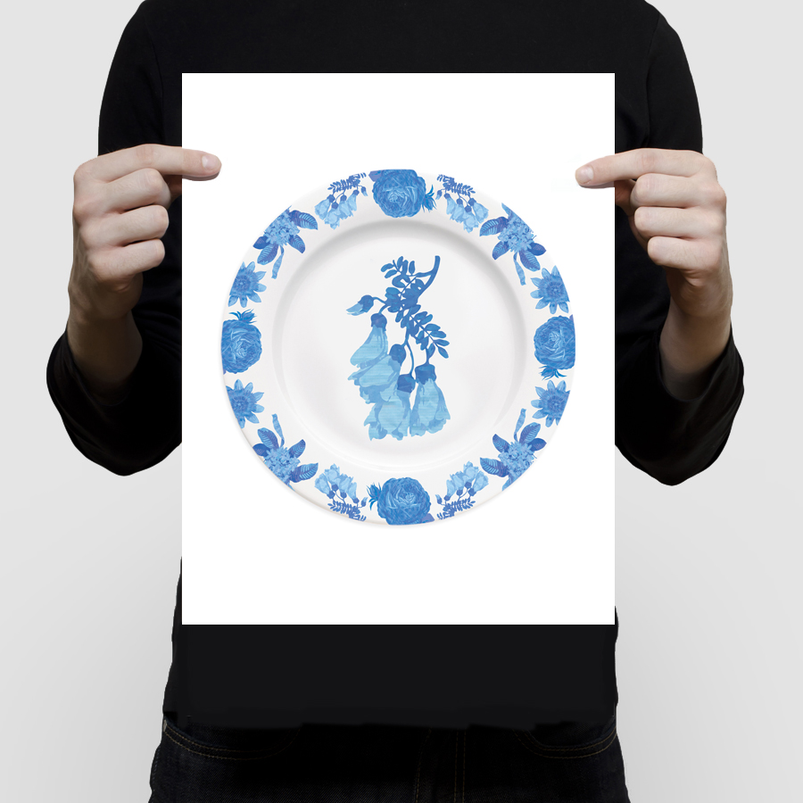 fineartchintzplateprint-kowhai11x14
