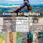 Encaustic (hot wax) Workshops in the Gold Coast, Queensland
