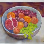 Ceramic Bowl with Fruit