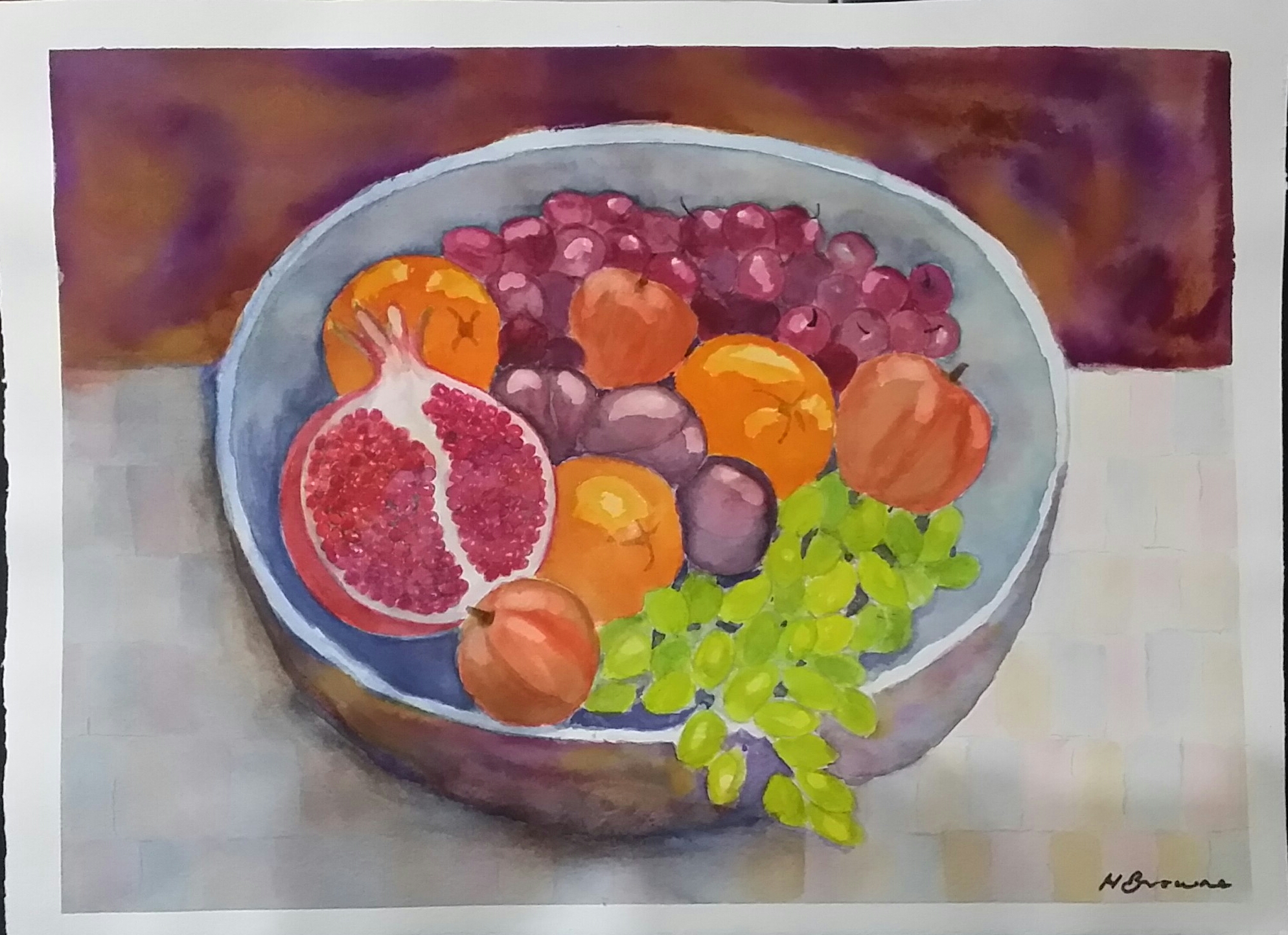 fruit-bowl-38cm-x-28cm-arches-300gsm-140lb