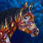 Horsing Around – original acrylic painting