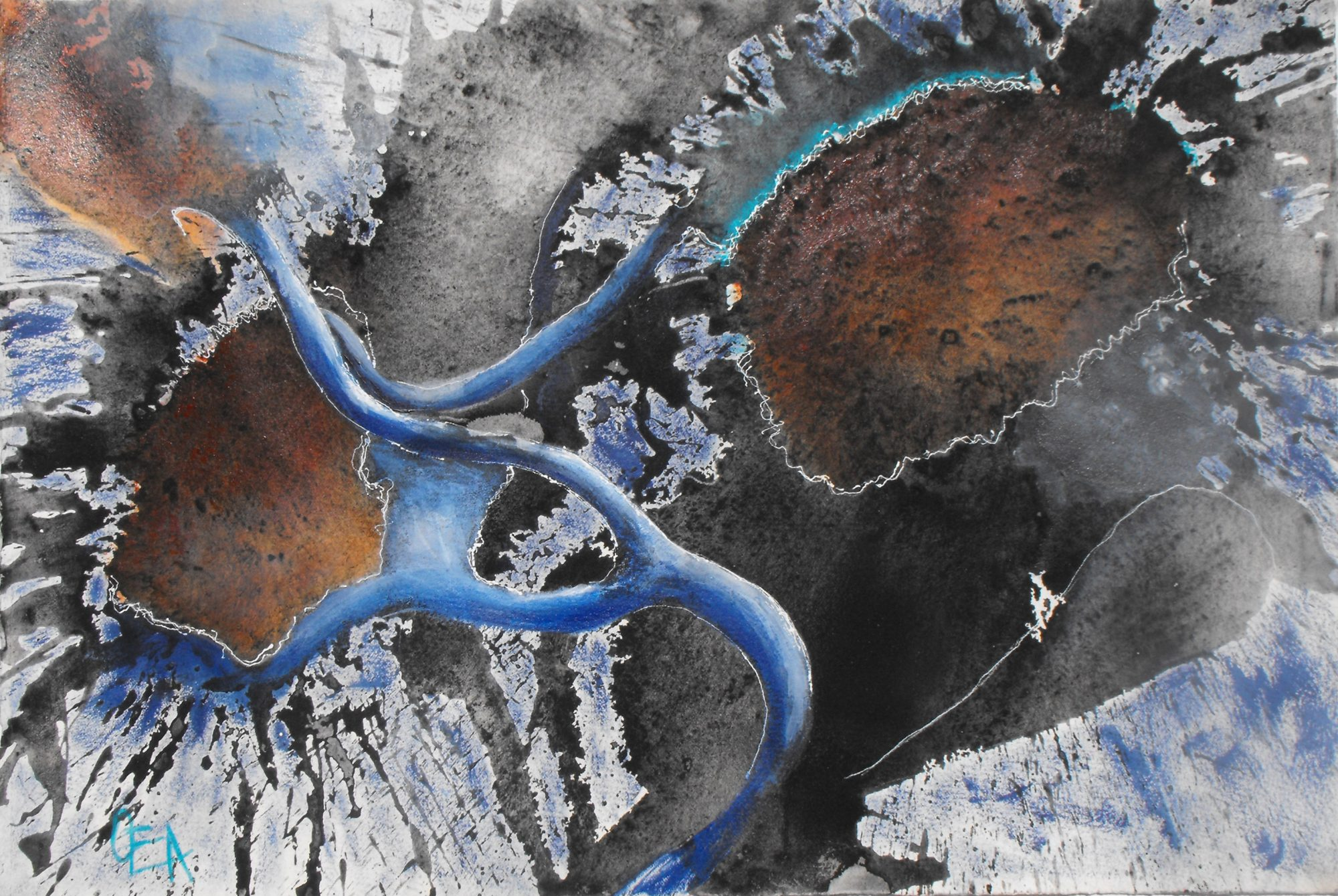 point-of-impact_blue-movement-orange-rhythm-line-charcoal-olivia-alexander