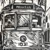 Melb Tram Lino Detail