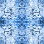 Blue toile tree