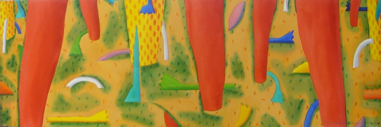 Rainforest Floor w/Red Gums 50x150cm/20×60″