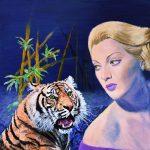 `1940s Tigress' – Tiger surreal painting
