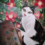 BY THE WINDOW- Cadbury the cat Ltd Ed Print
