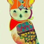 Baby Bandana Owl Ltd Ed Print