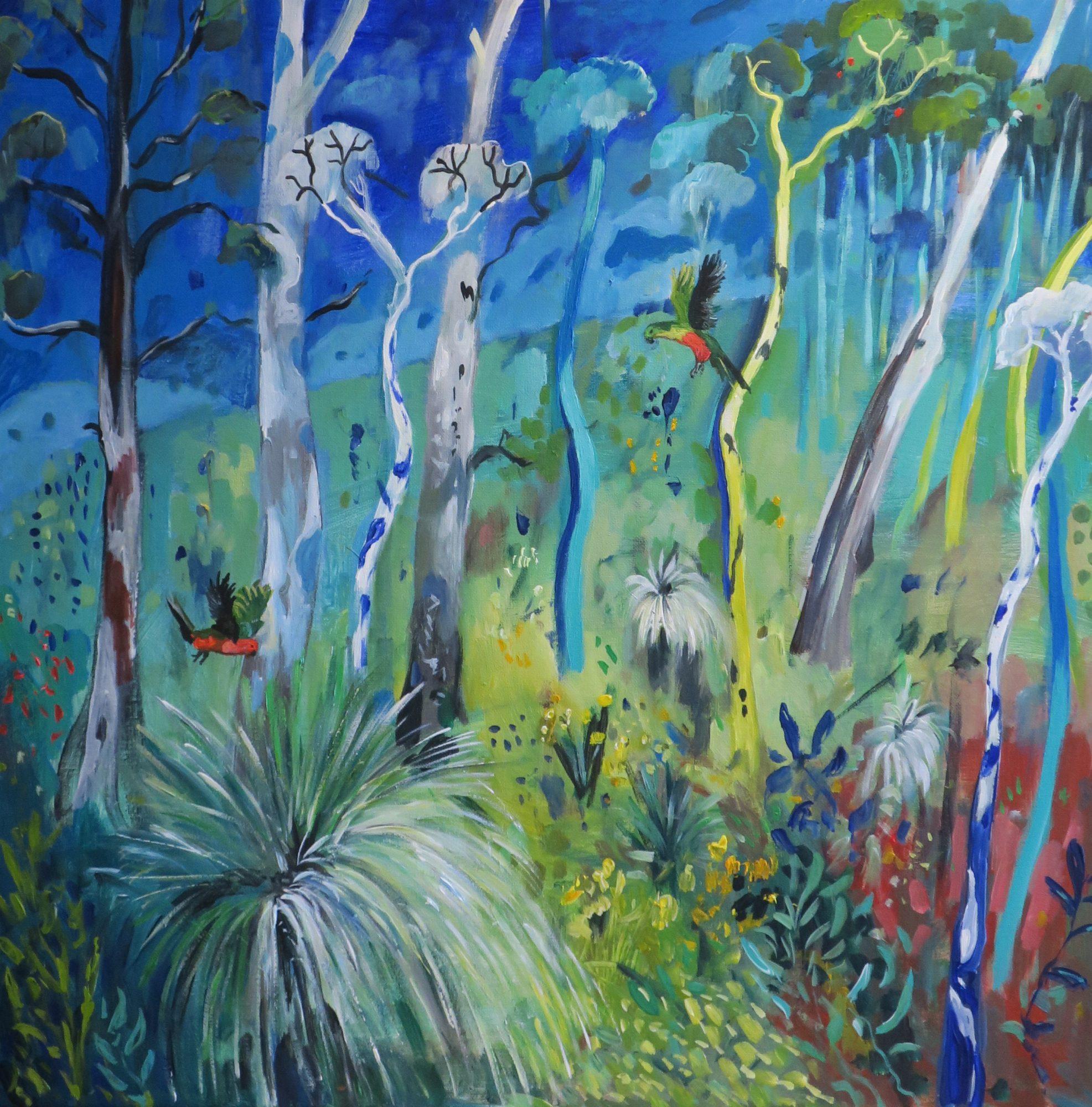 bushland-and-birds-on-blue
