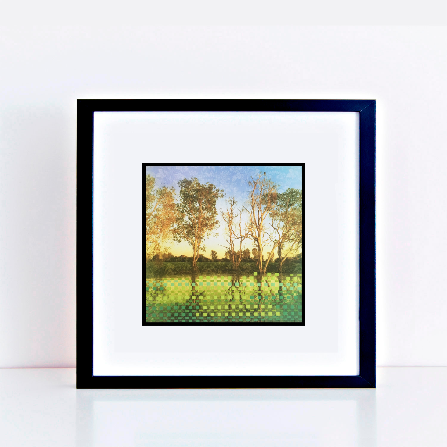 fineart-green-and-gold-gums-framed