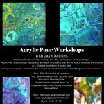 Acrylic Pour Workshops with Gayle Reichelt in the Gold Coast, Queensland.