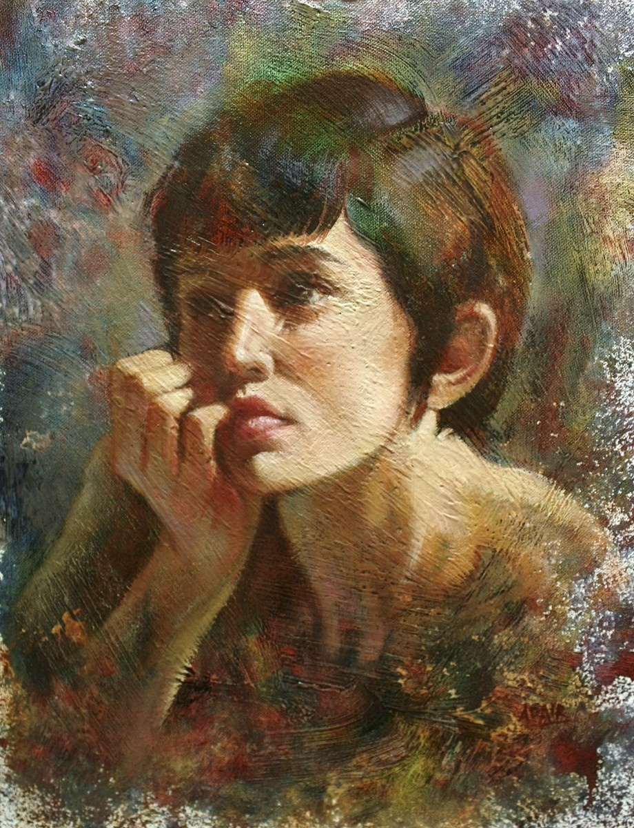 36x28_oil-on-canvas_-girl-with-muti-coloured-hair-sm