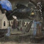LTD ED Blue Moon Cemetery Print