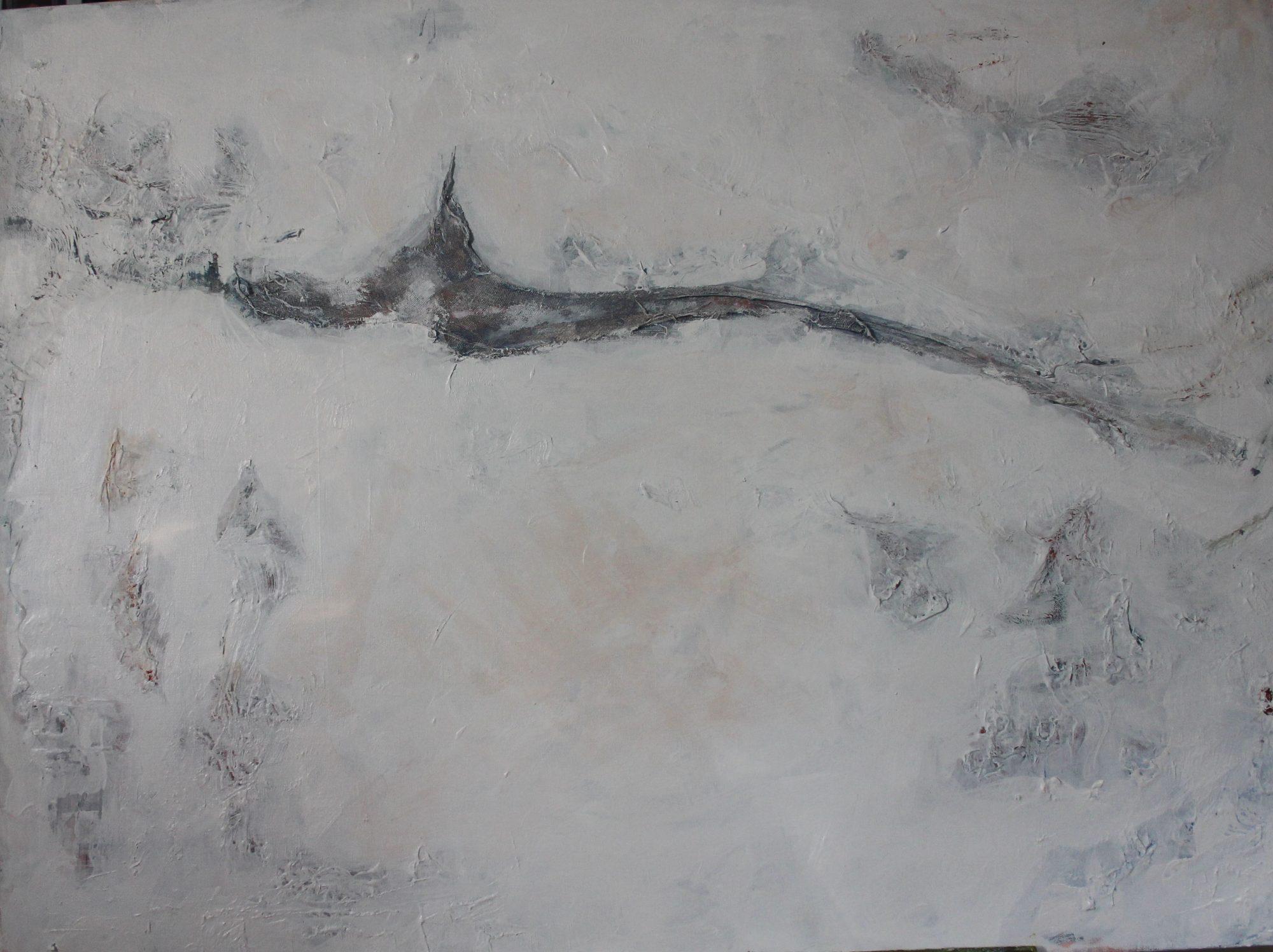 bird-on-white-110x76cm-acrylic-and-mixed-media-on-canvas