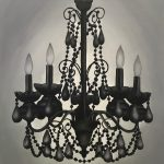 Black Chandelier Painting