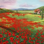 Tuscan poppy fields
