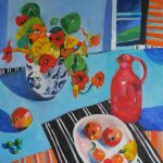 Nasturtiums and Red Jug