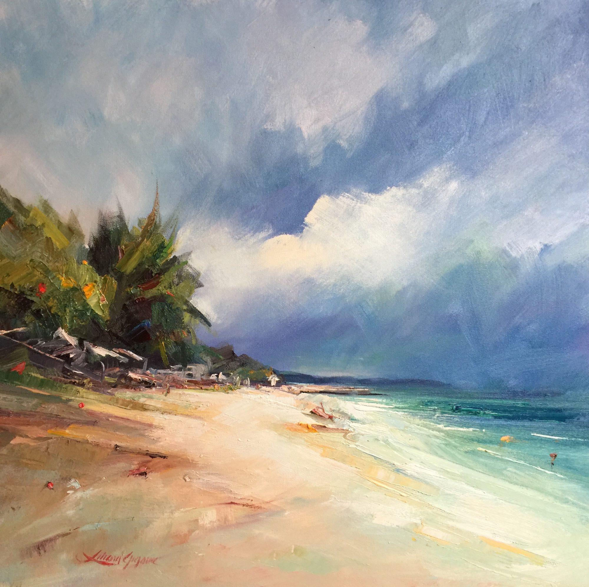 169- Noosa's Main beach 61x61cm