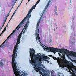 Pelican Under a Pink Sky