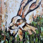 Hare Near The Burrow