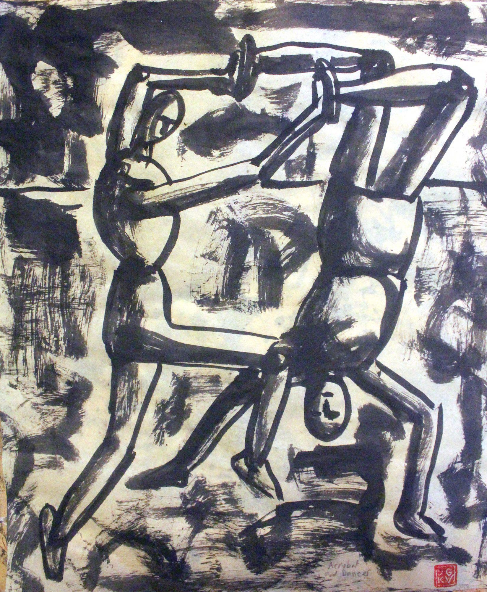 Acrobat and Dancer 37 x 43 cm