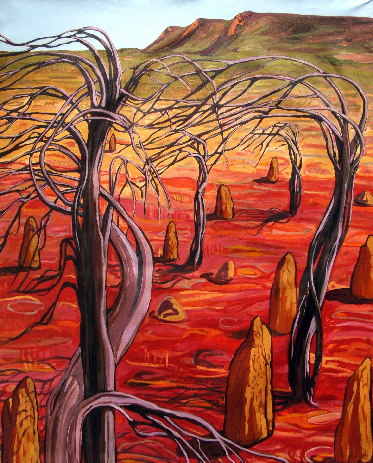 prayer-trees-at-davenport-rangesoil-on-canvas140cm-x-90cm-001