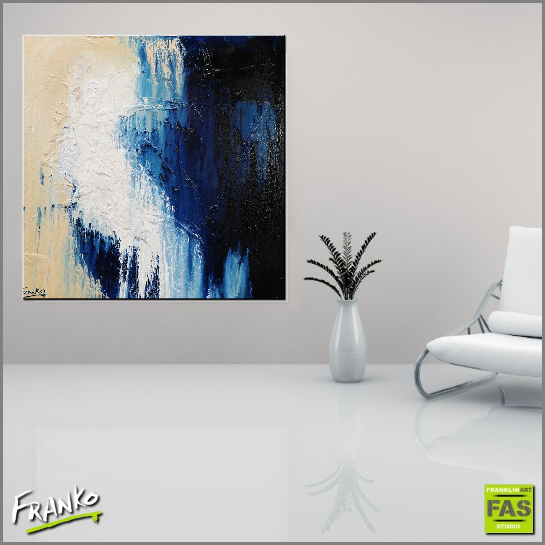 100-blues-100cm-x-100cm-blue-abstract-painting-franklin-art-studio-franko-artist