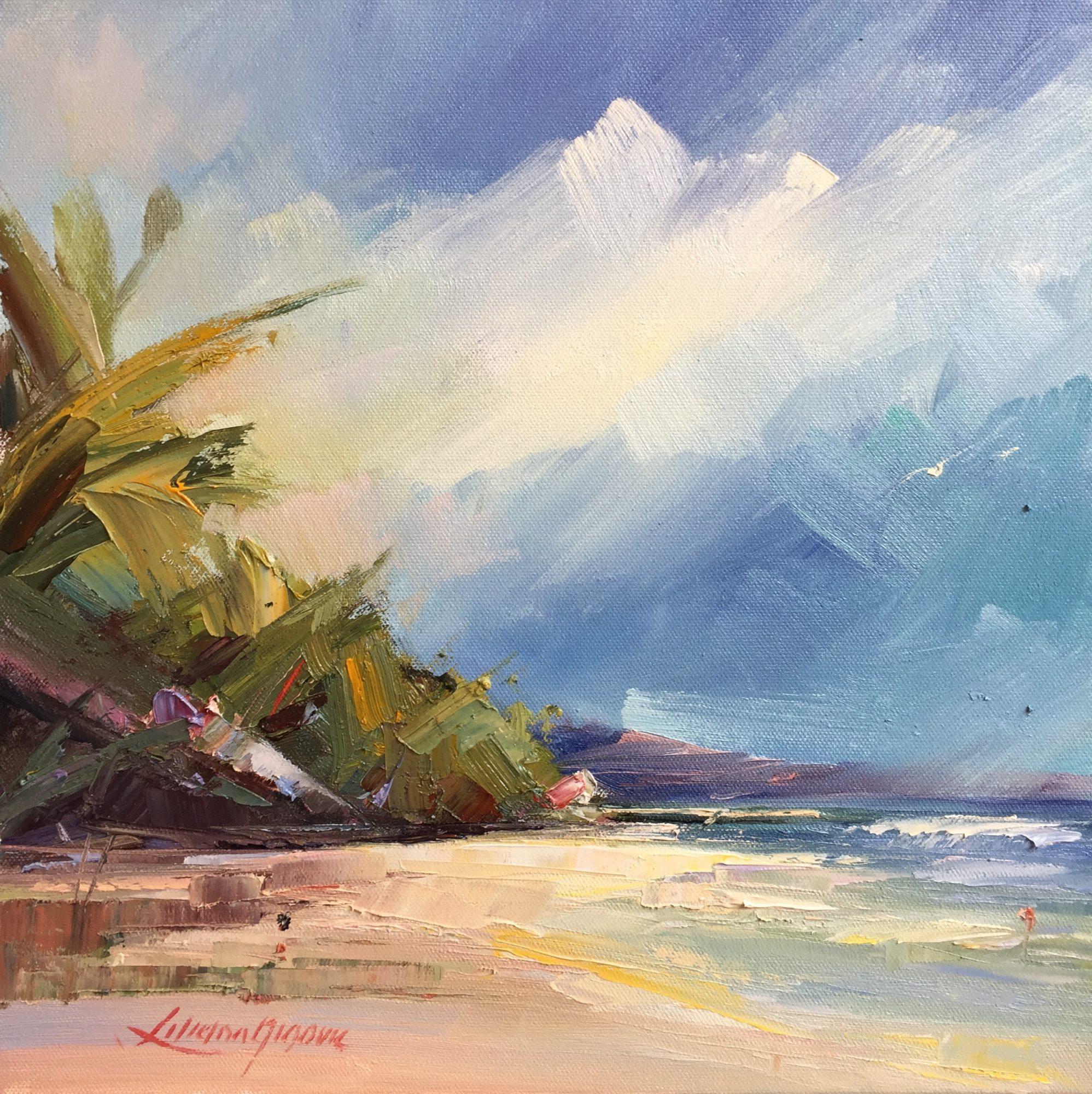 181-Noosa's Main beach #3,size,35.5×35.5×3.5cm