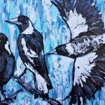 Grey Skies Magpies