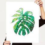 Woven monstera leaf Ltd Ed print 16×20