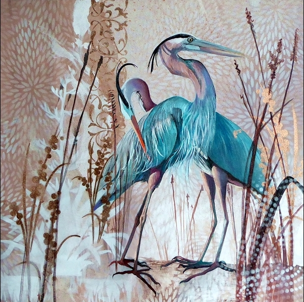 Immaculate Blue Herons.web
