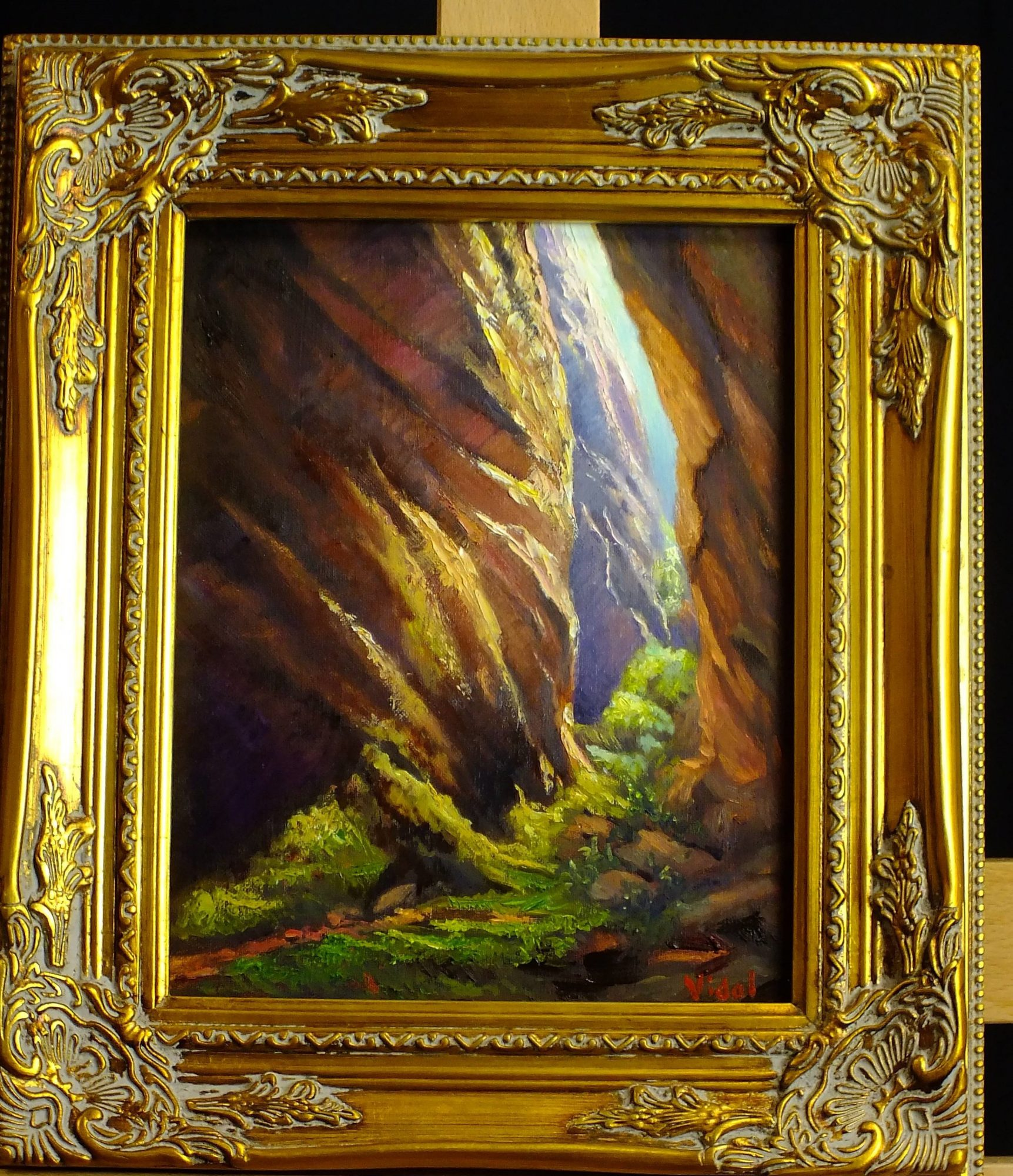 Oil painting canyon altar room