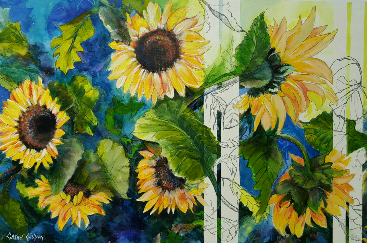 Sunflowers and stripes