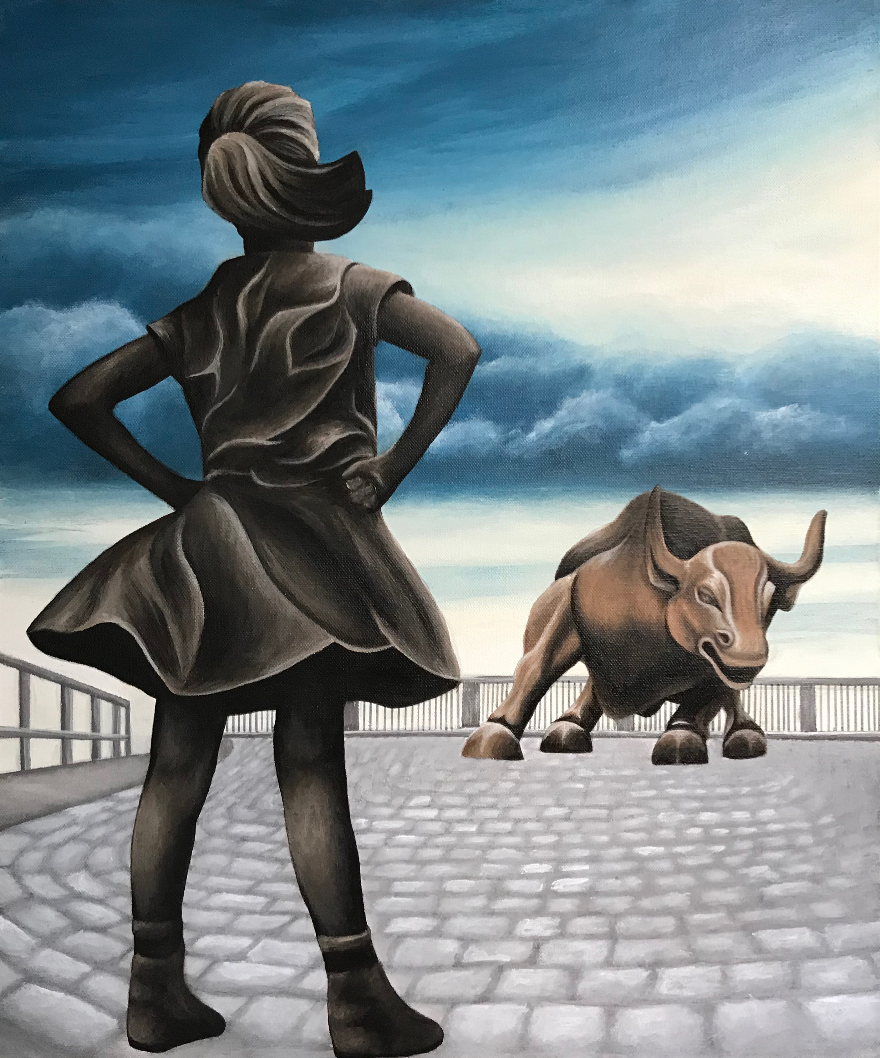 Fearless Girl Painting Stand Strong Always
