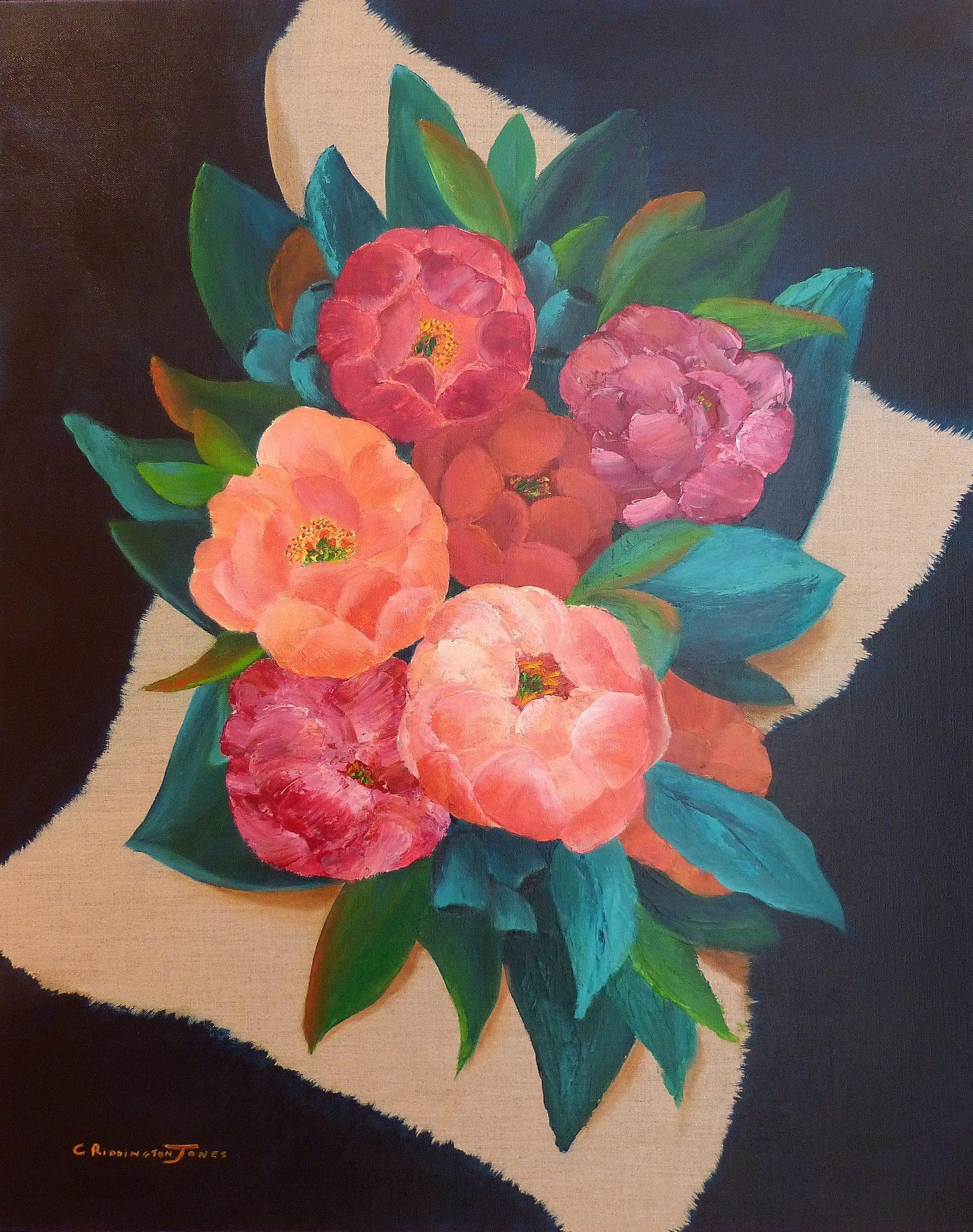 Bouquet on Linen