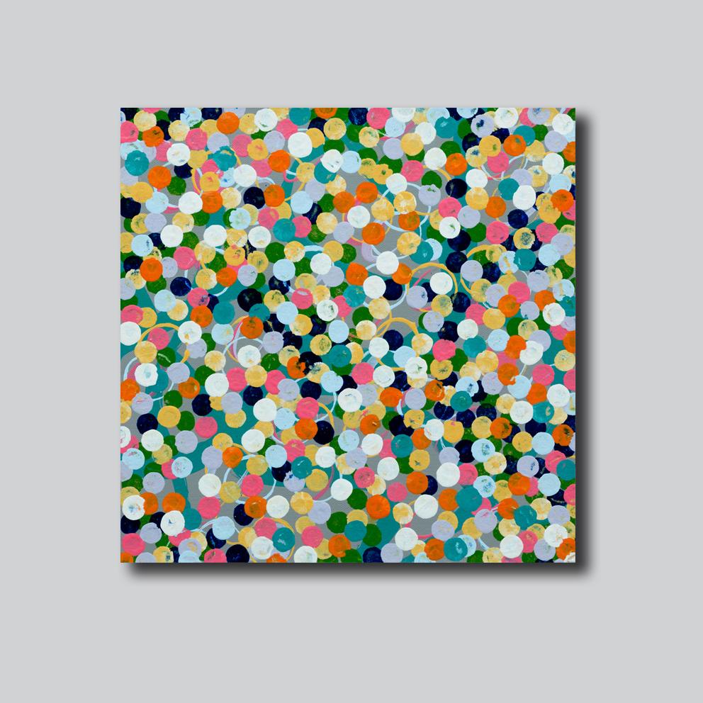 Molecular Mayhem grey wall