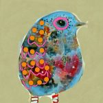 Blue Bird in Striped Socks Ltd Ed Print