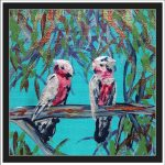 GALAHS IN THE GUM TREE NO 10 Ltd Ed print