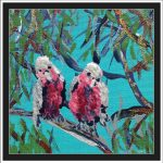 MINIATURE GALAHS IN THE GUM TREE NO 6