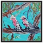 GALAHS IN THE GUM TREE NO 8 Ltd Ed print